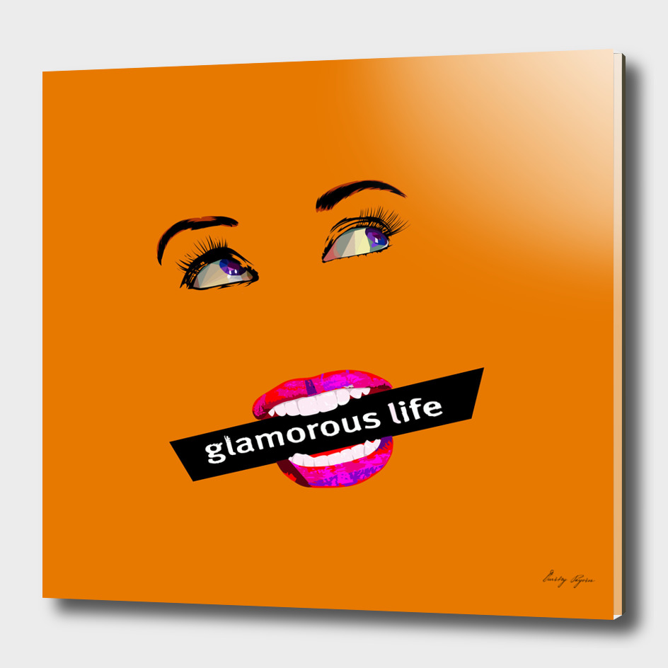 Glamour life pop art poster