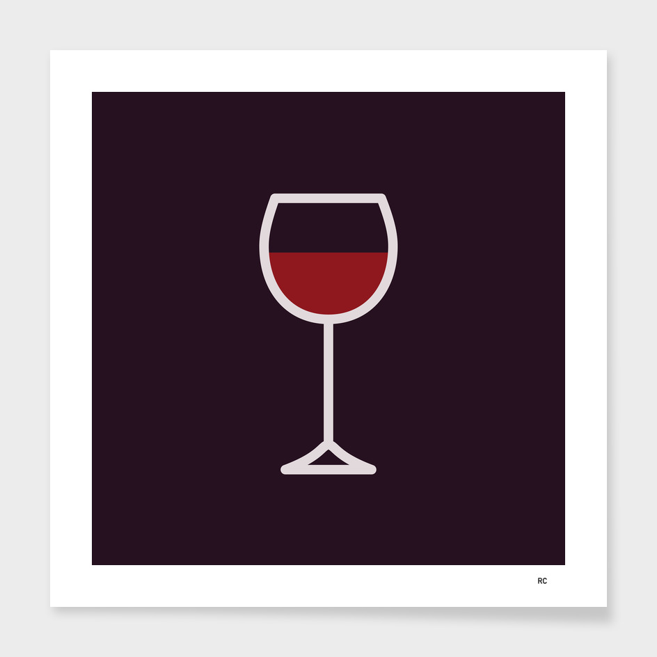 Wine - Icon Prints: Drinks Series