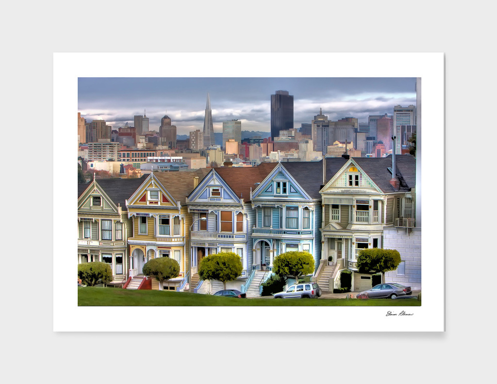 Painted Ladies of San Francisco California lg