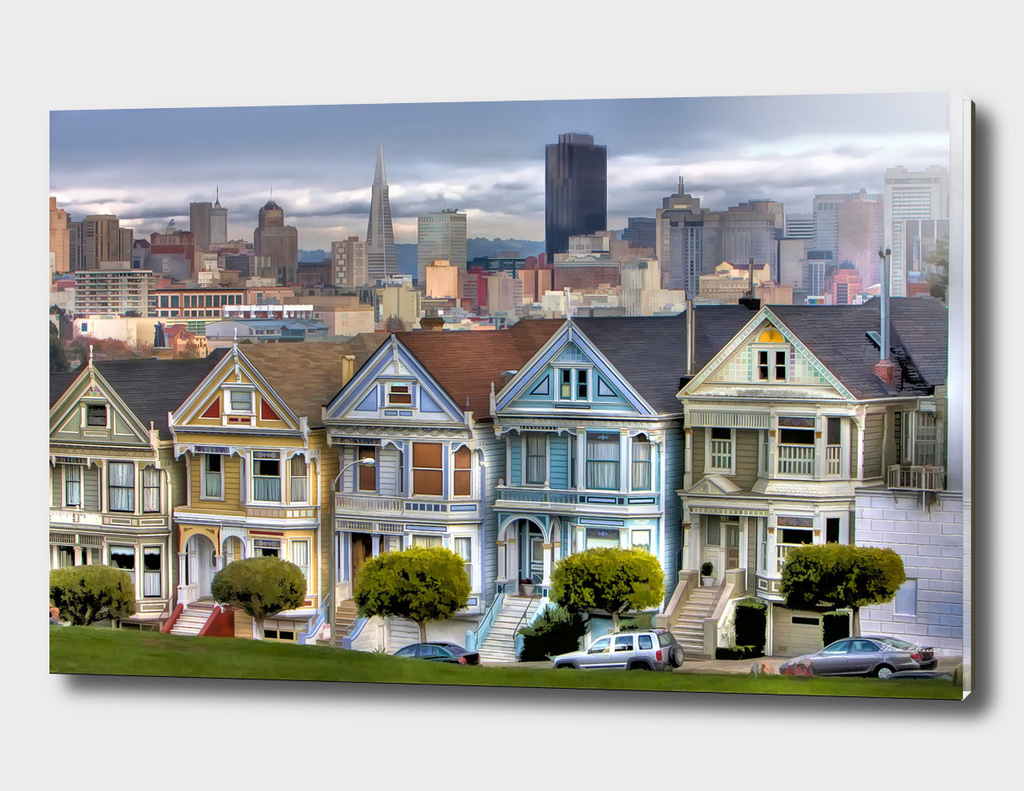Painted Ladies of San Francisco California lg
