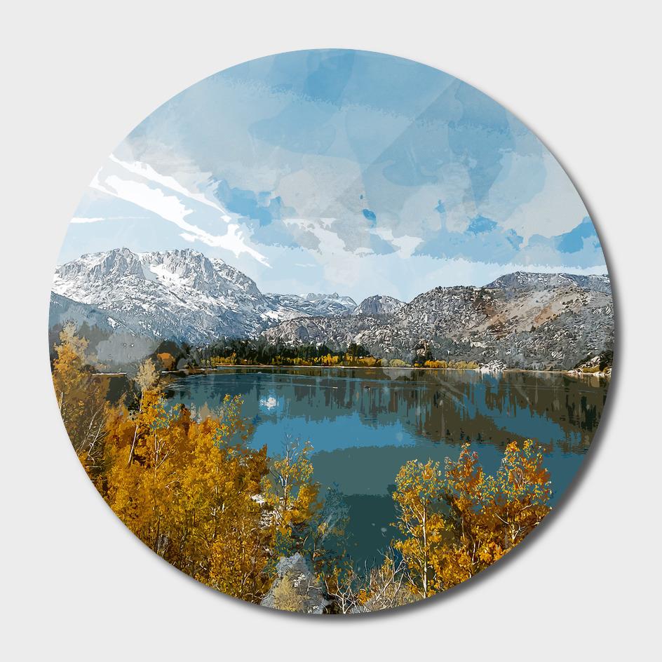 June Lake in Sierra Nevade Range of California