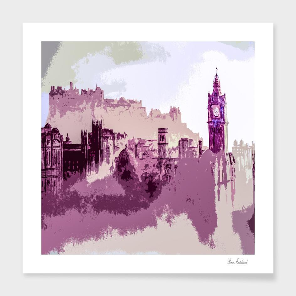 Abstract Painting Edinburgh Capital of Scotland