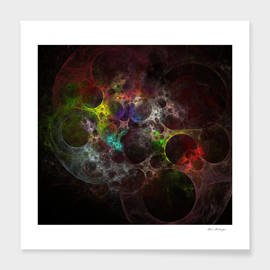 Multicolored fractal with holes