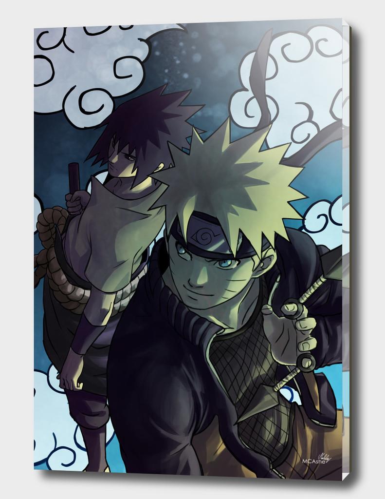 Naruto and Sasuke Fanart