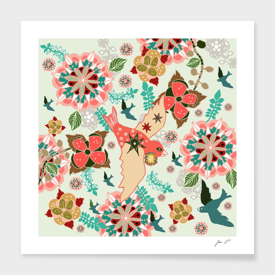 birdsnflowers