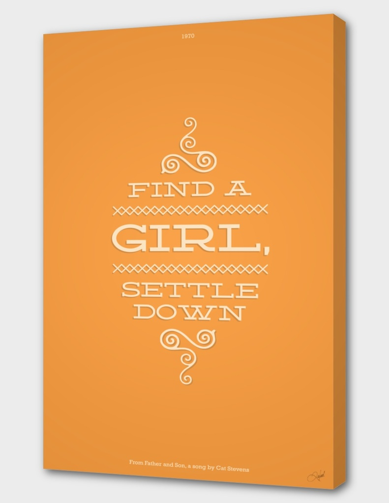 Find a Girl, Settle Down