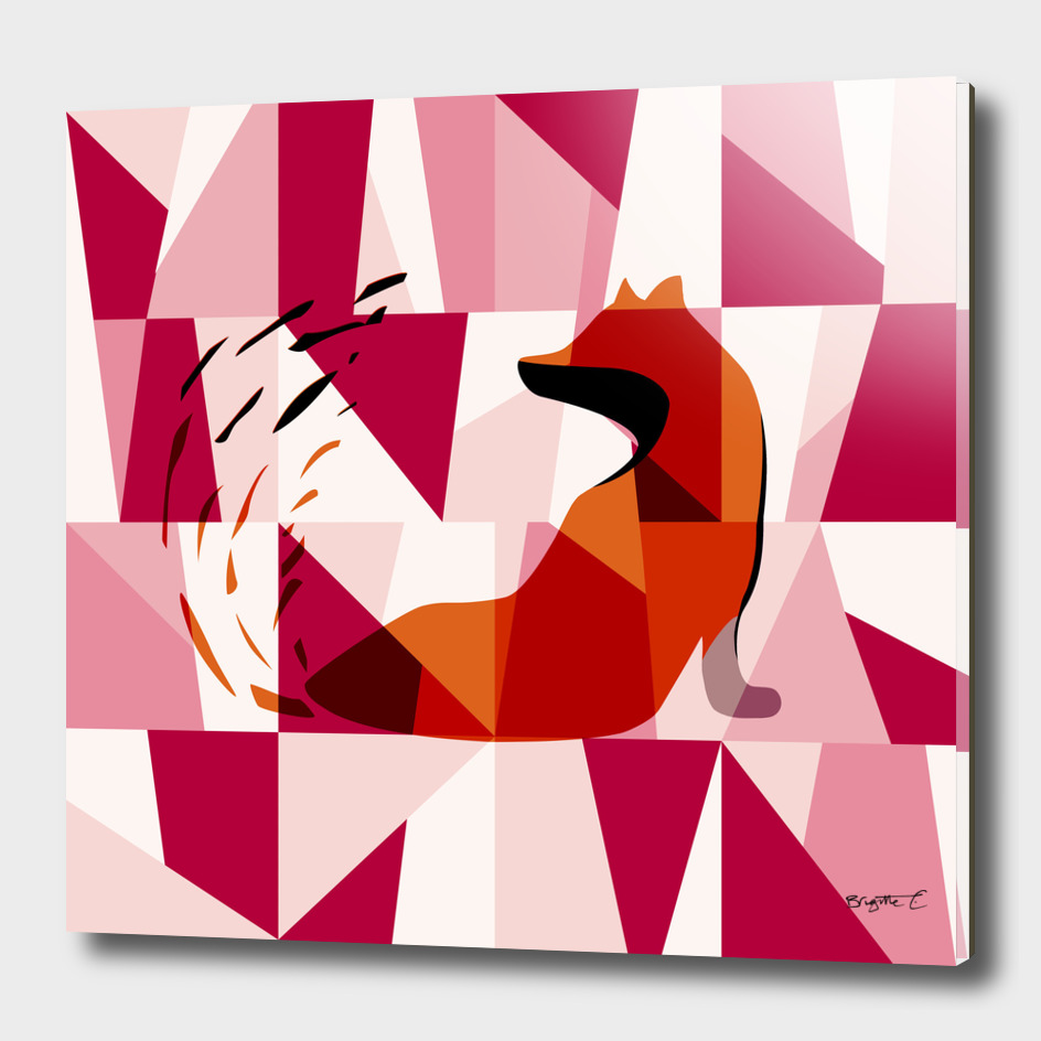 Fox Geometric Pattern