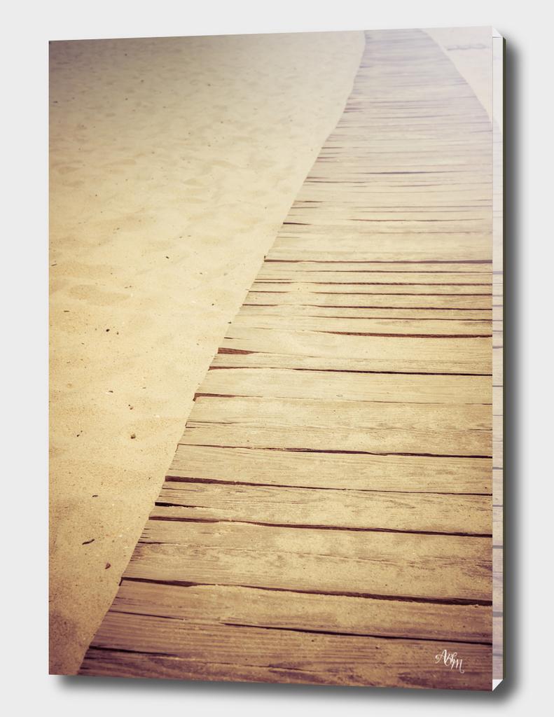 Wooden Beach Sidewalk