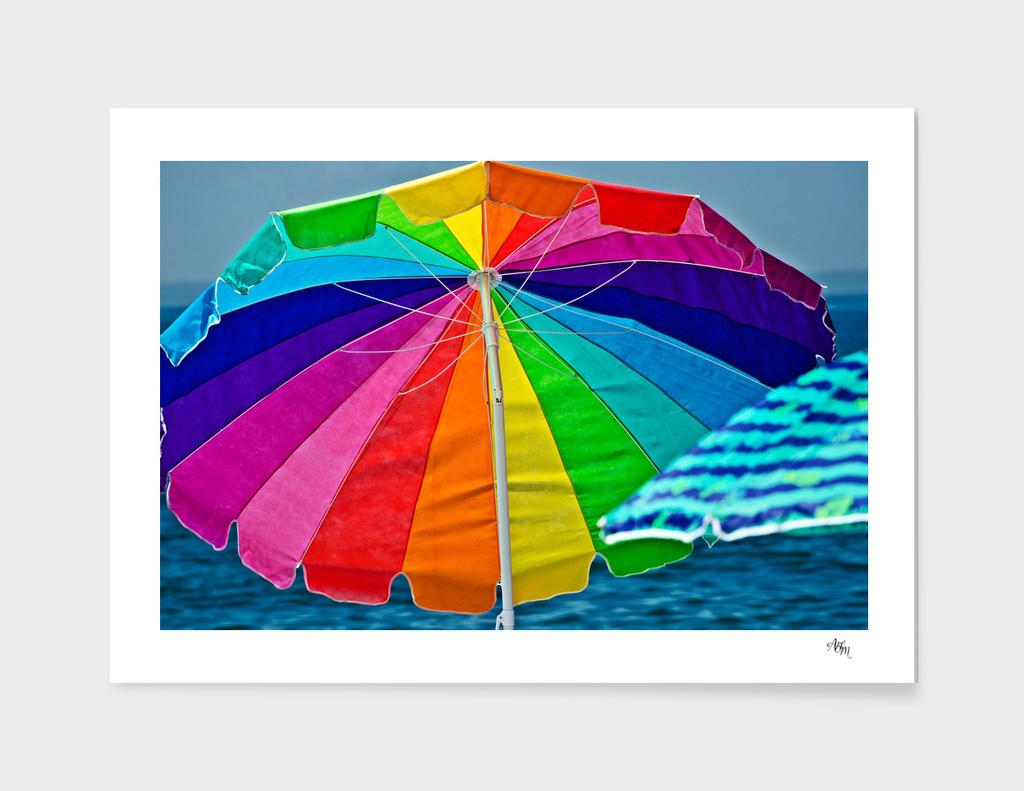 Colorful Beach Umbrellas