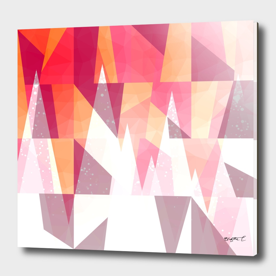 Abstract Geometric Mountains Design