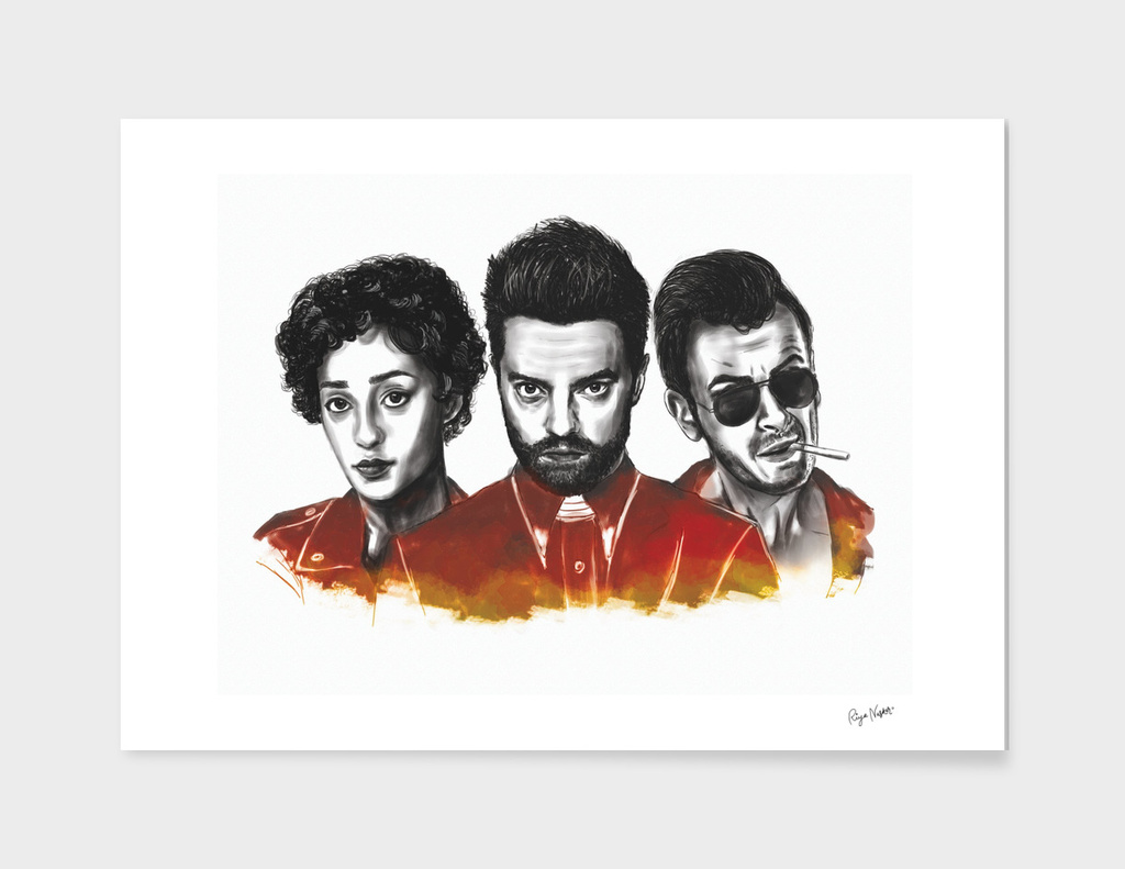 PREACHER Digital Art poster