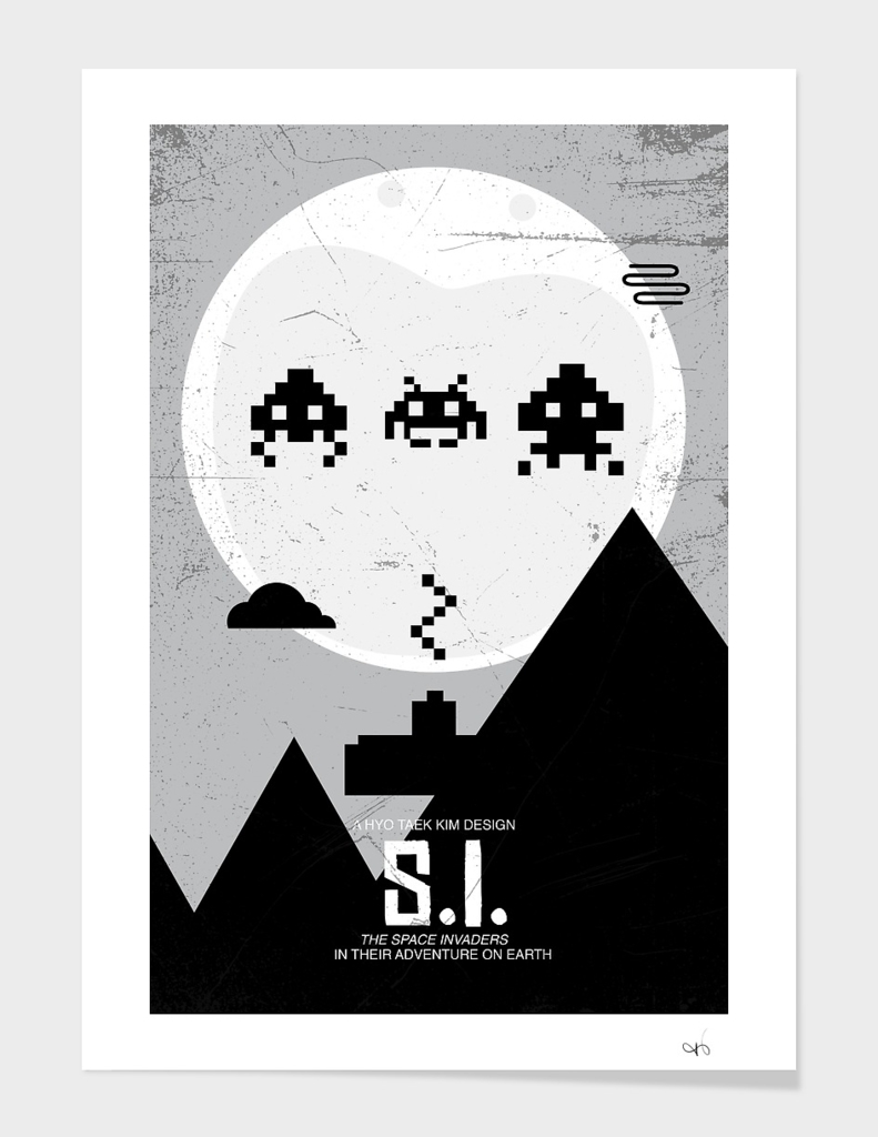 Space invader - ET poster