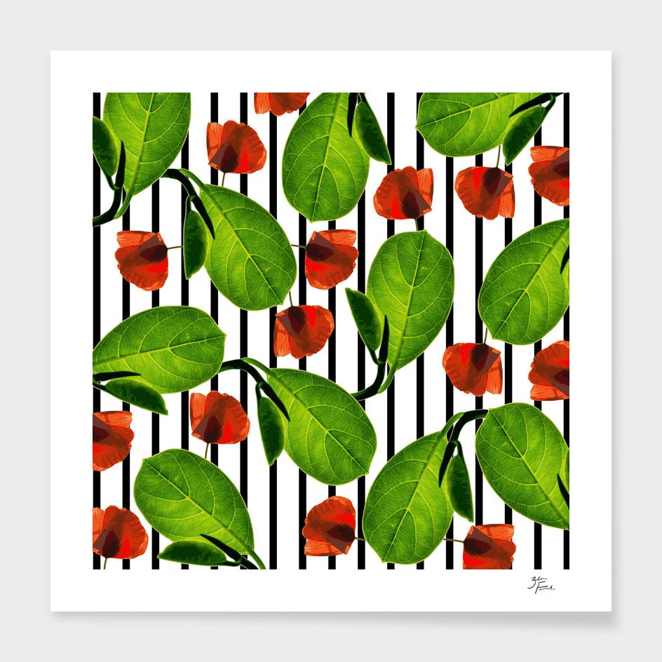 Leaves + Poppies