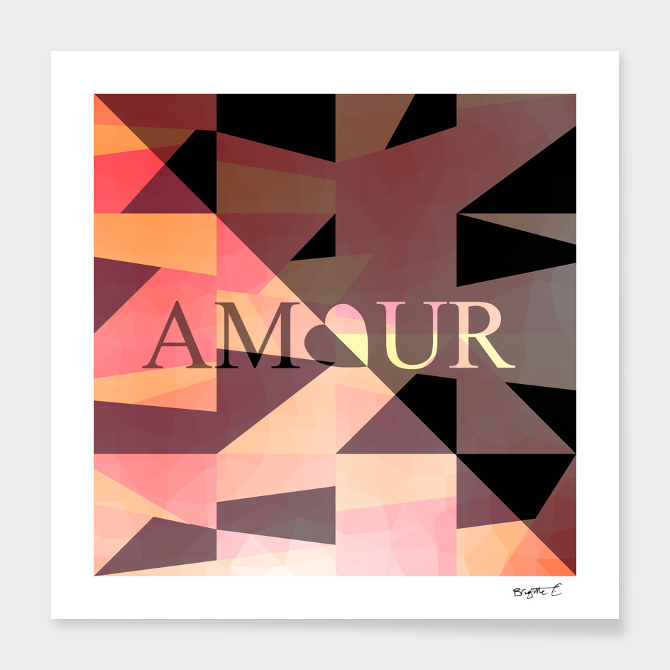 Amour Love Heart Cubic Design