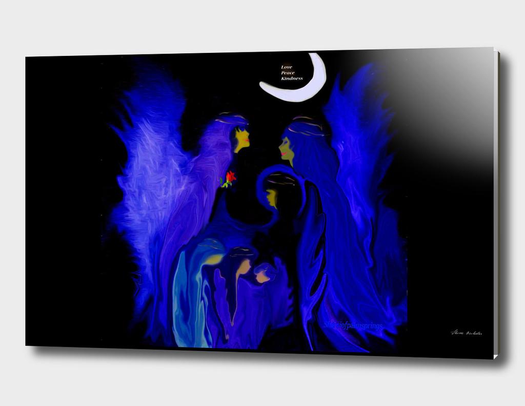 Blue Angel Family With Love ,by Sherri Nicholas