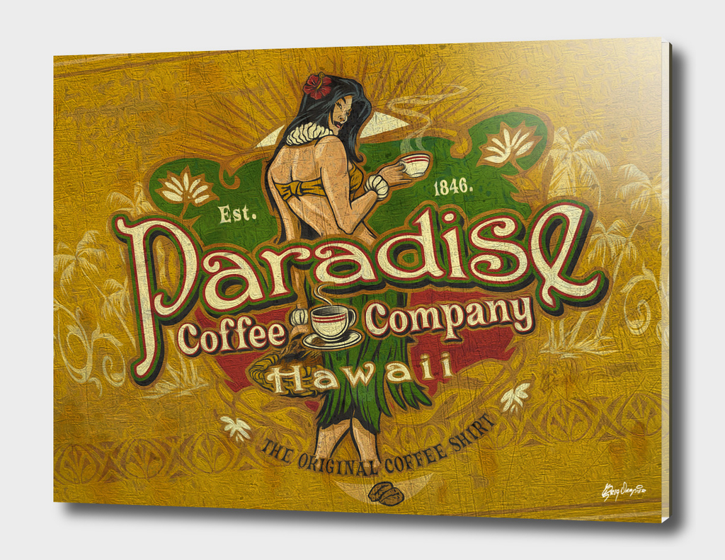Paradise Coffee Company Vintage Sign art
