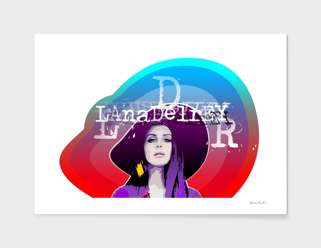 Lana Del Rey Colorful