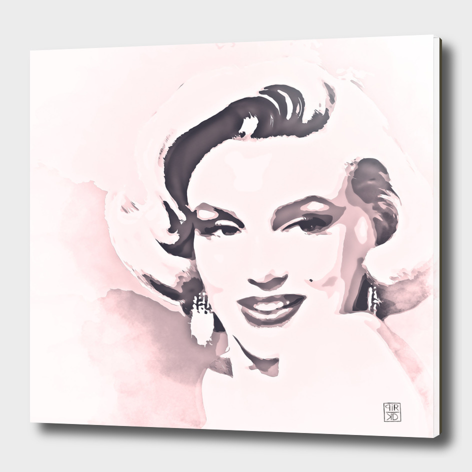 Marilyn Monroe painting watercolor