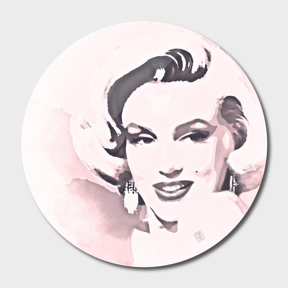 Marilyn Monroe painting watercolor