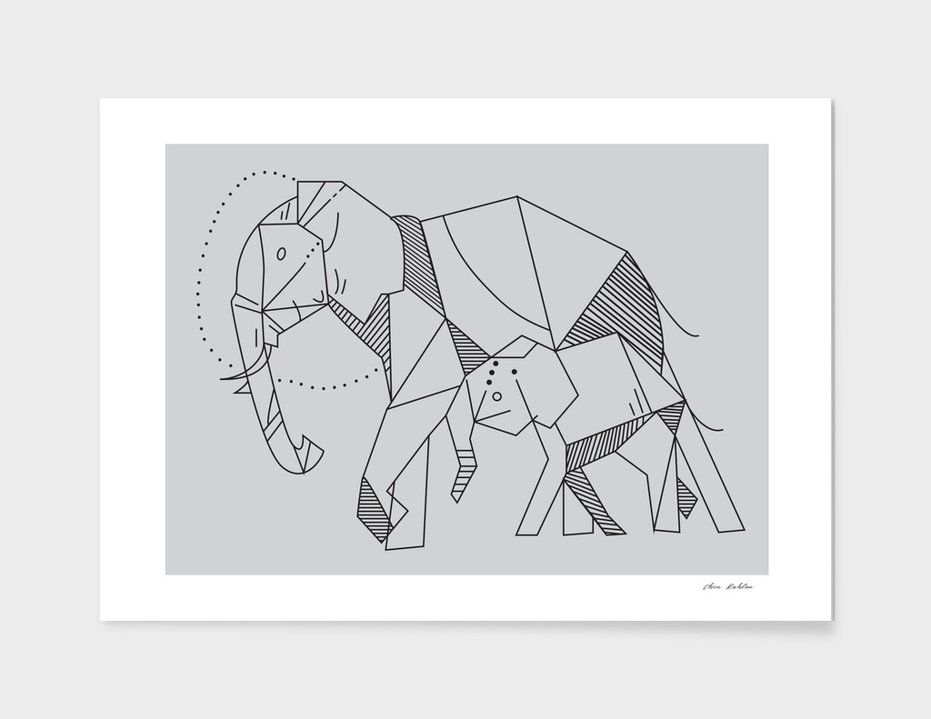 elephant geometric shape