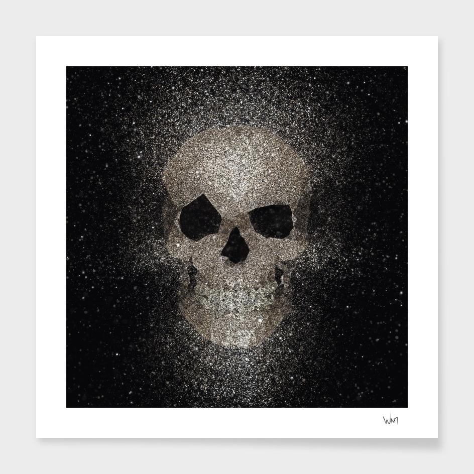 Skull glitter gold