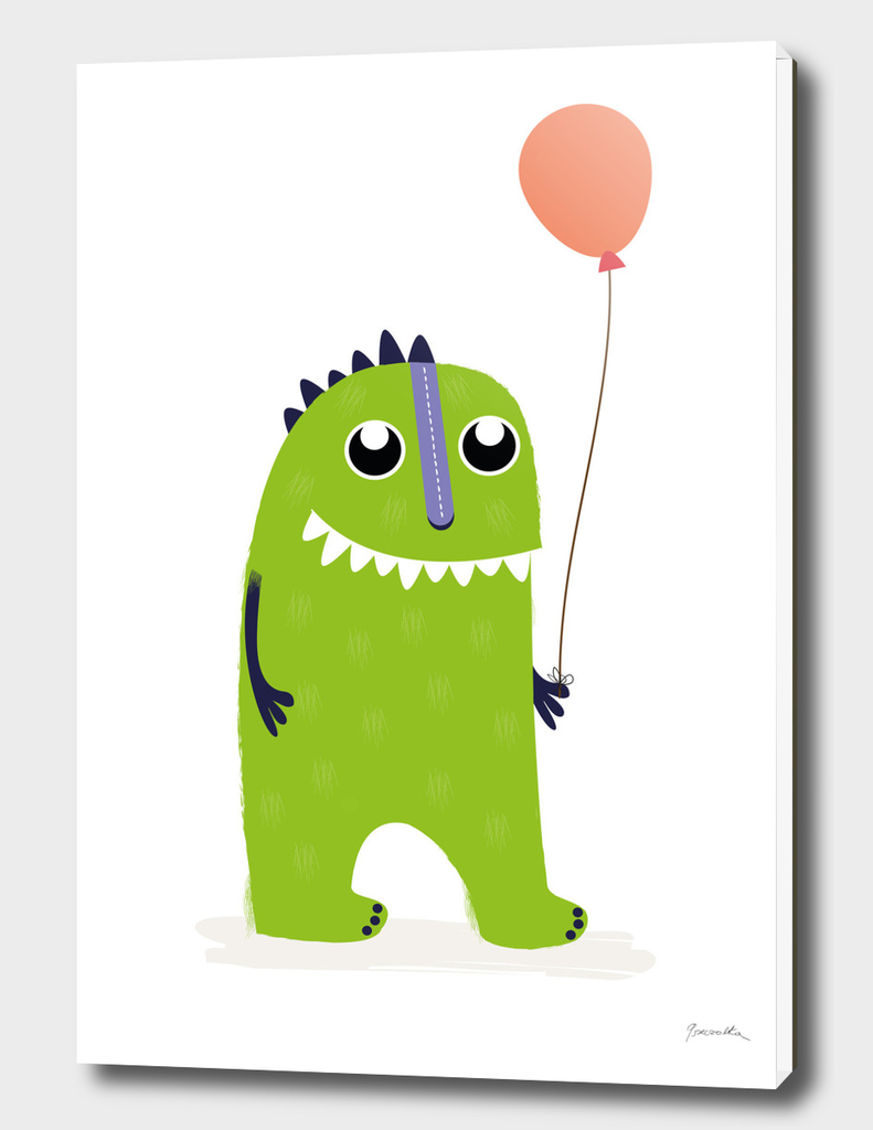 Little monster with balloon