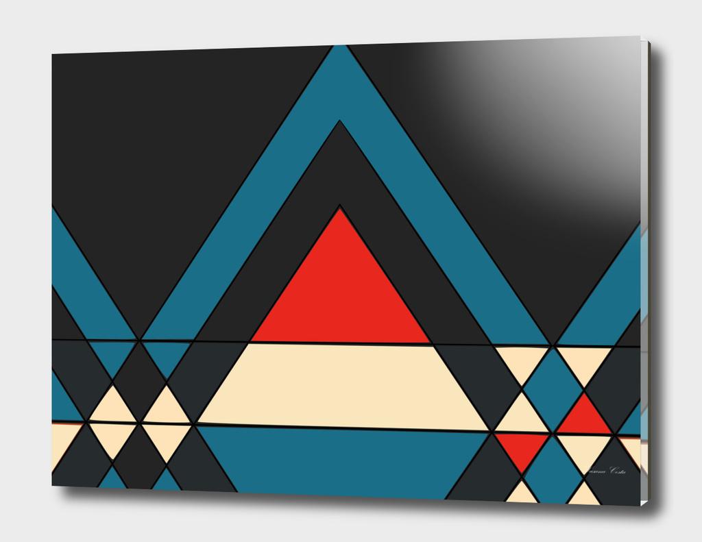 tribal geometry navy
