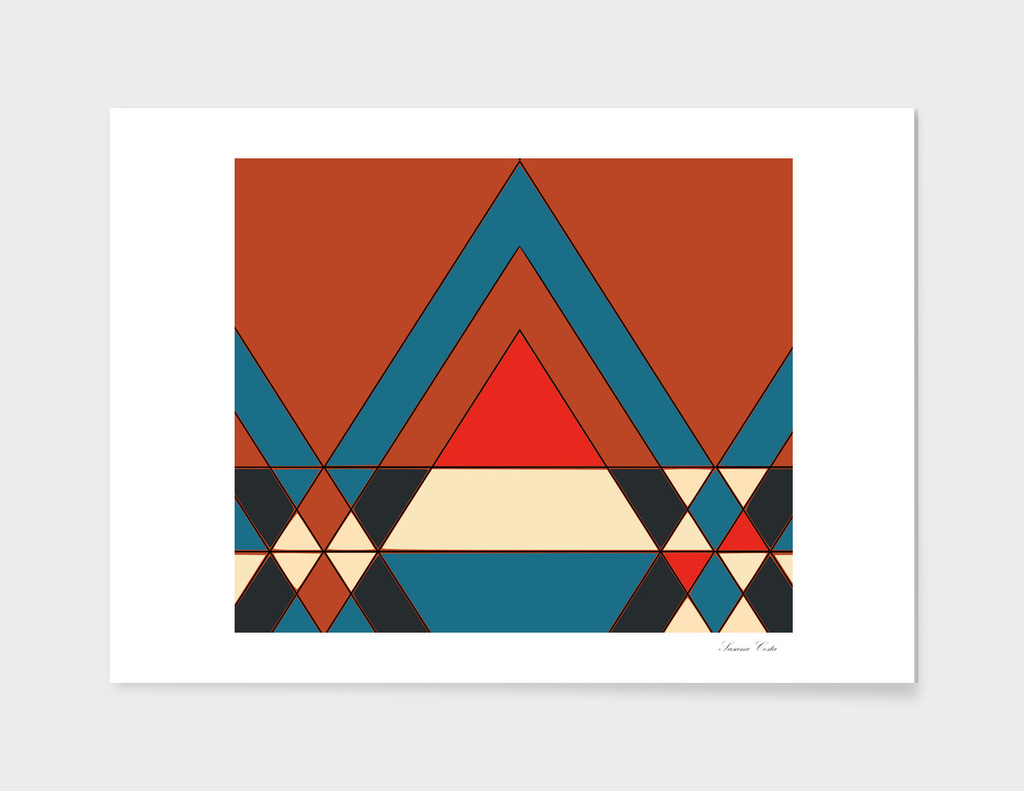 tribal geometry orange