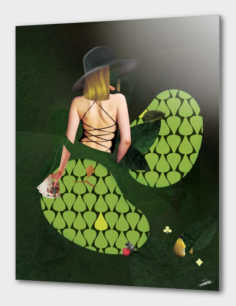 Woman green