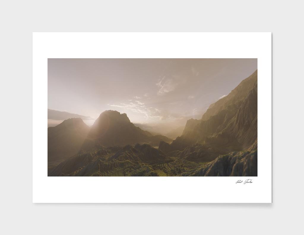 valley print