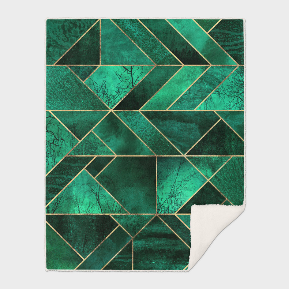 Abstract Nature - Emerald Green