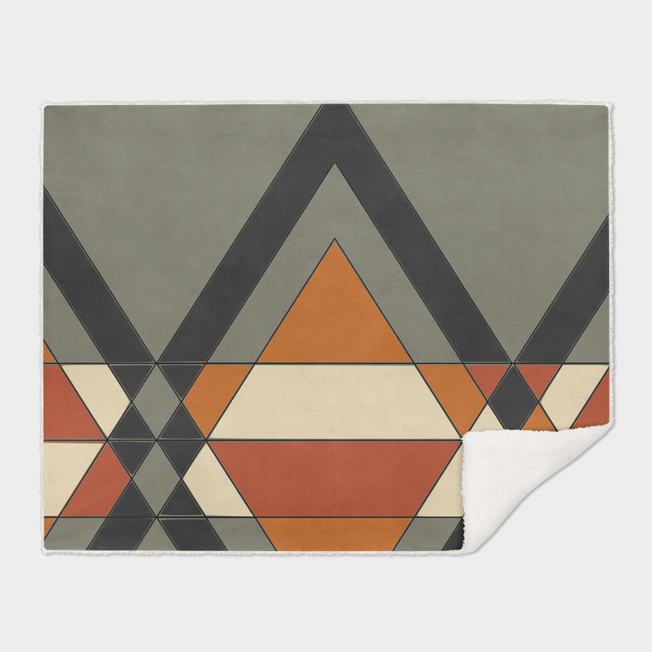Tribal geometry brown
