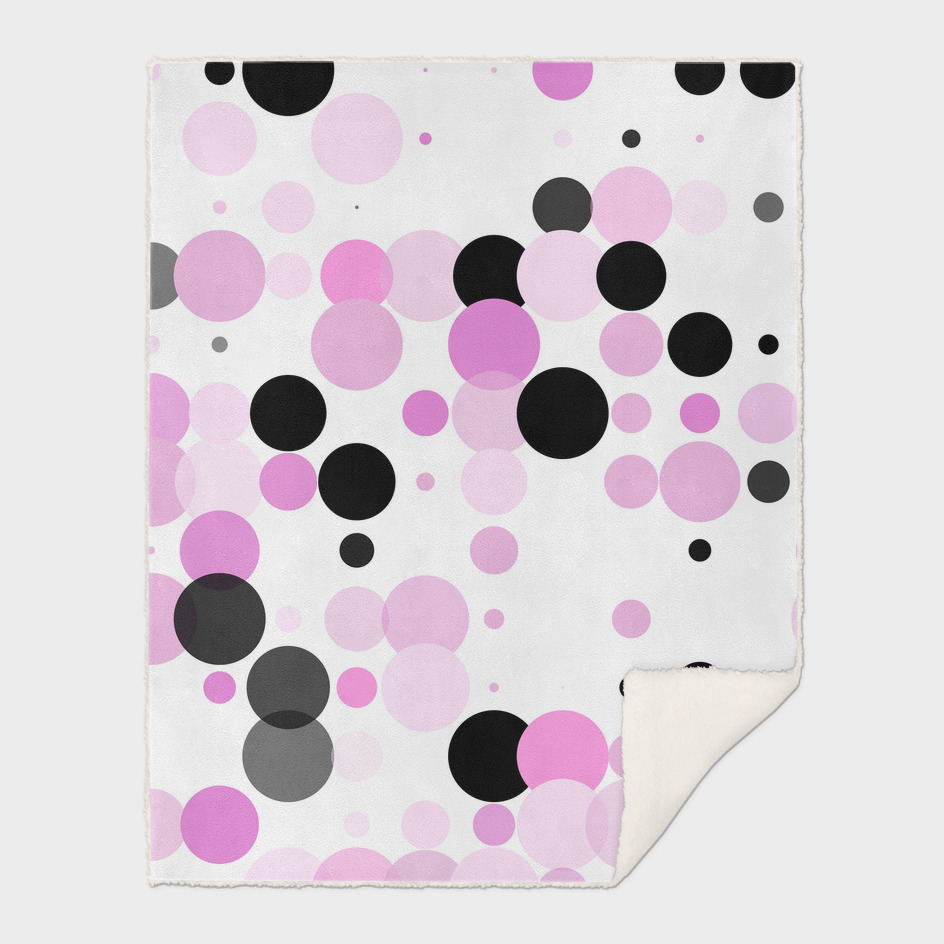 Pink and Black Dots