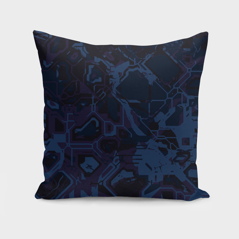Blue and Purple Abstract