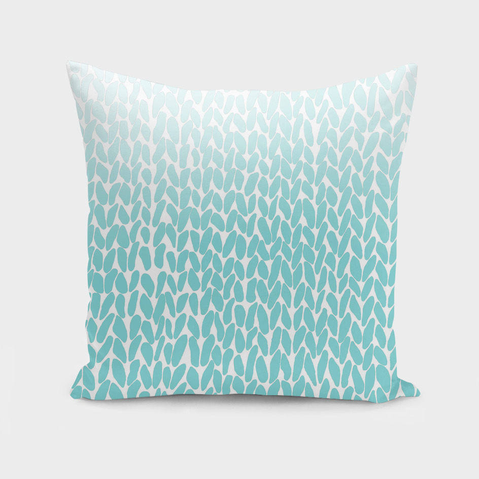 Hand Knit Ombre Teal