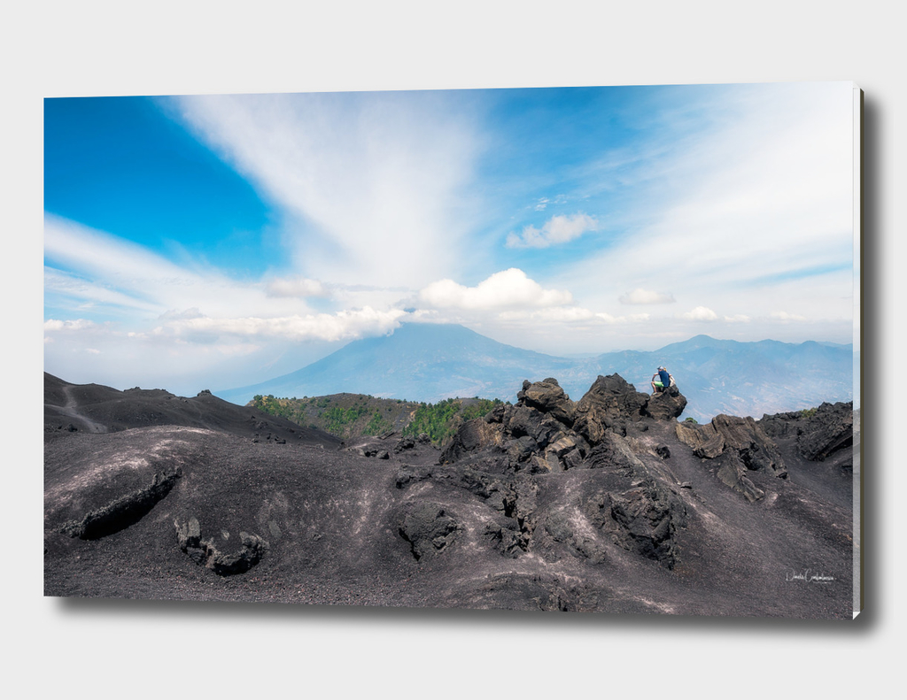 Panoramic View from the base of Volcano Pacaya, Guatemala