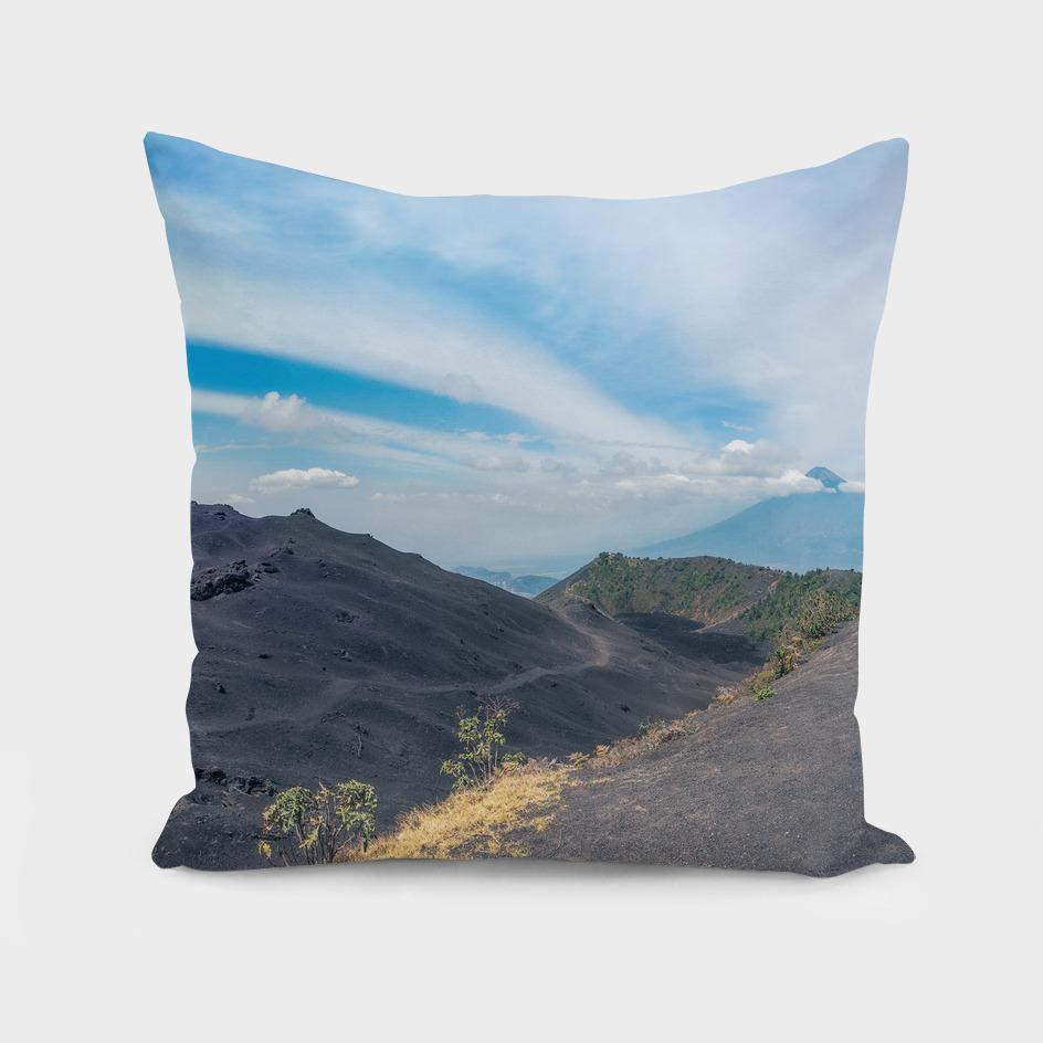 Volcano Pacaya lower crater view panorama in Guatemala