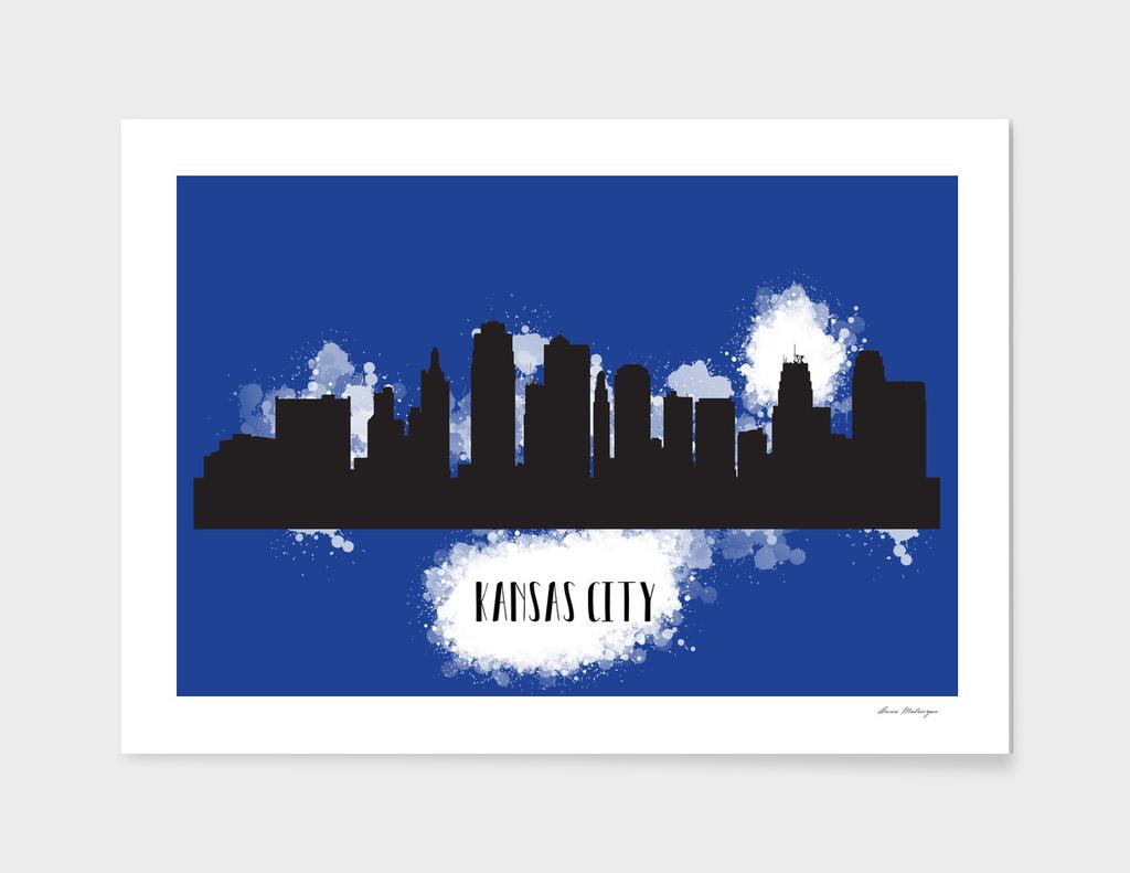 Kansas city skyline silhouette