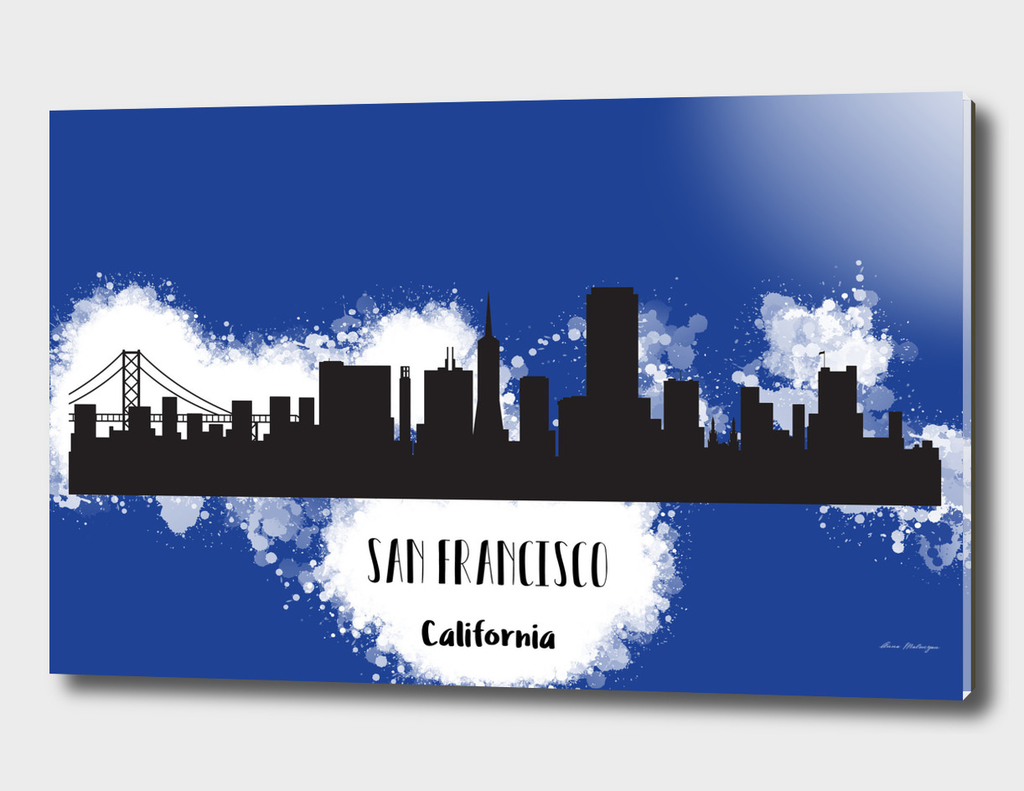 San Francisco skyline silhouette