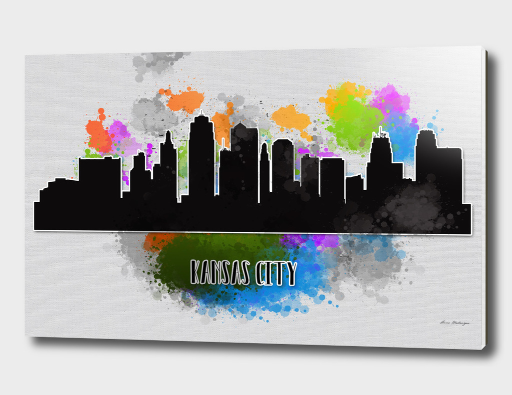 Kansas city skyline silhouette