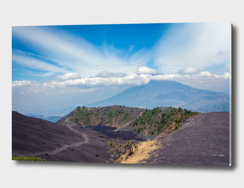 Lower Crater of Volcan Pacaya in Guatemala