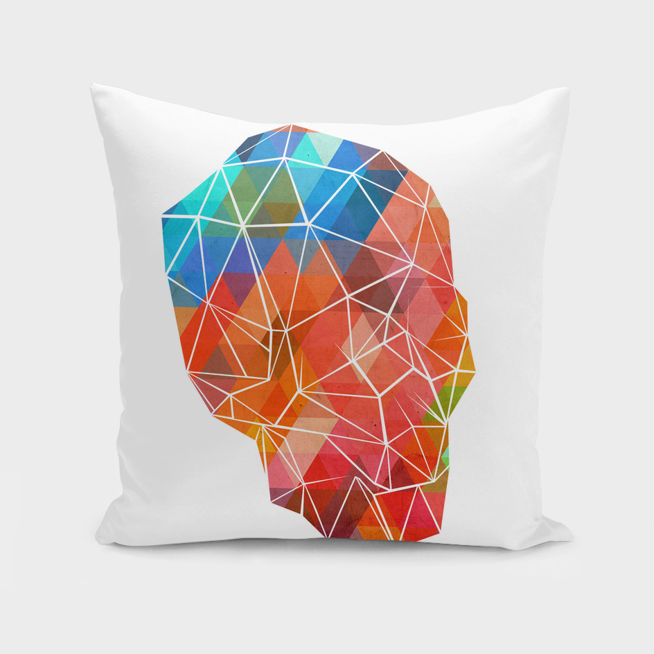 skull made of color