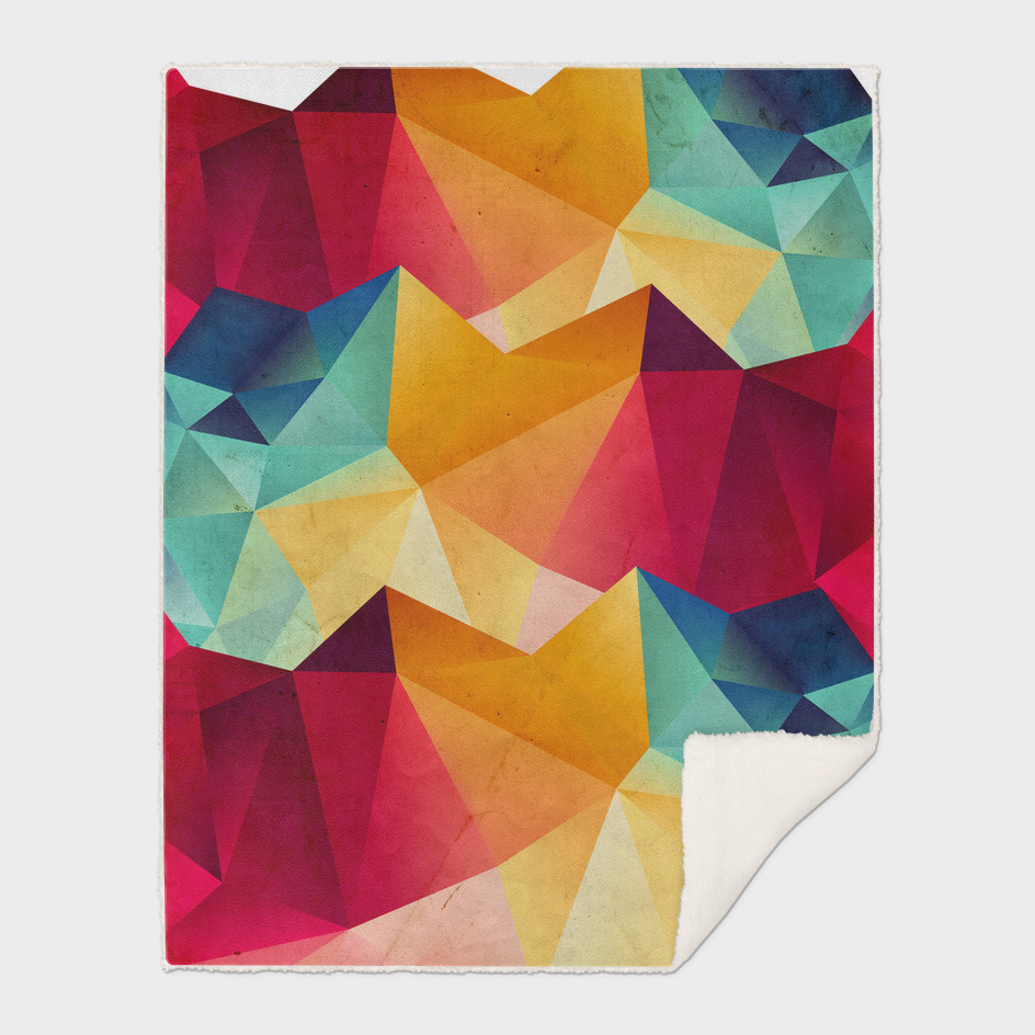 geometric color mountains