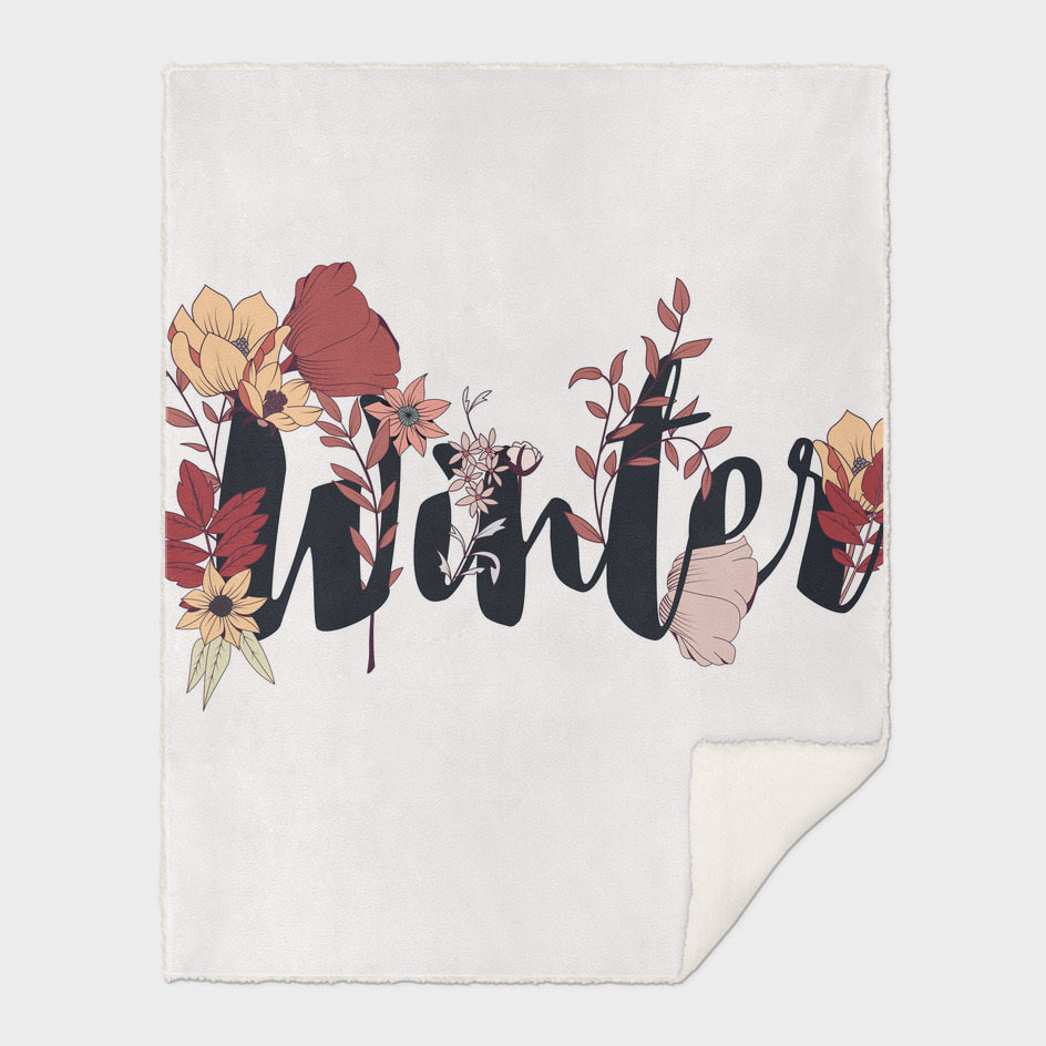 Flower Typography Winter 002