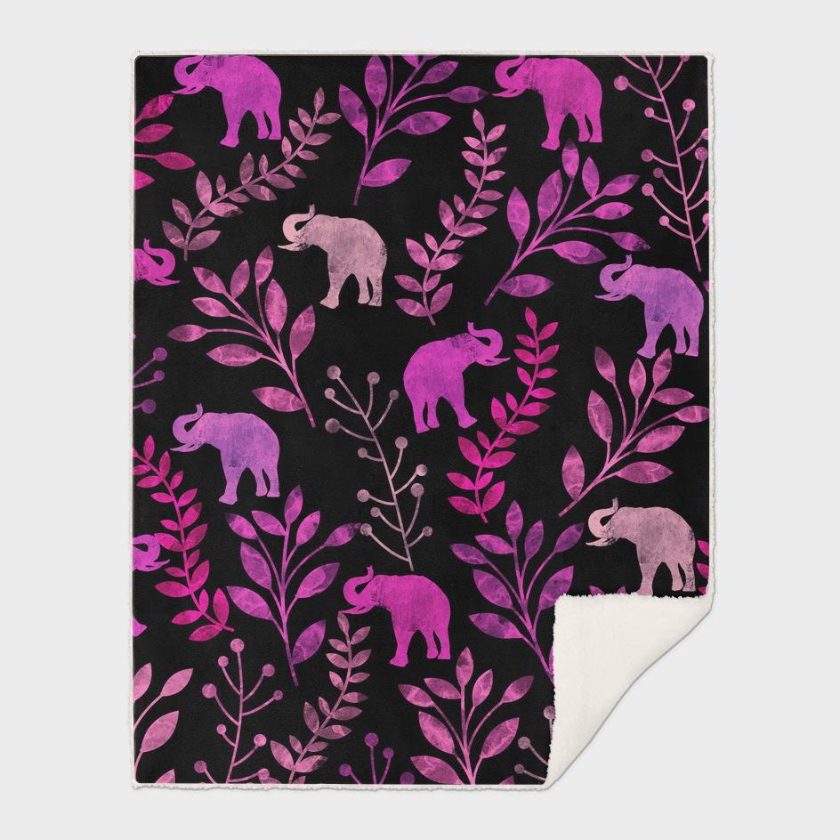 Watercolor Floral & Elephants