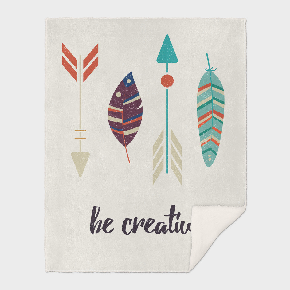 Be creative tribal feathers