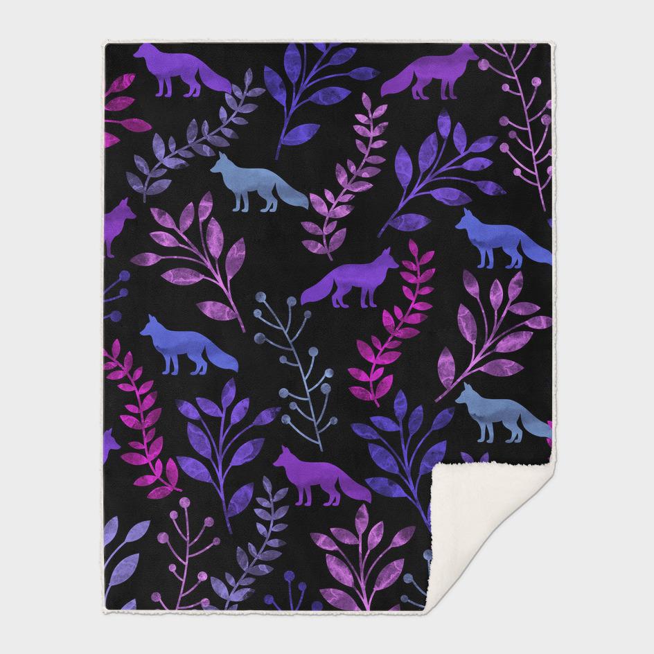 Watercolor Floral & Fox