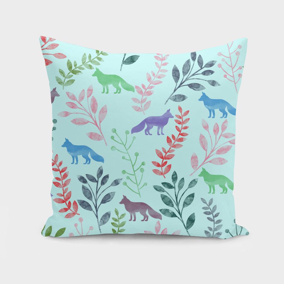Watercolor Floral & Fox V