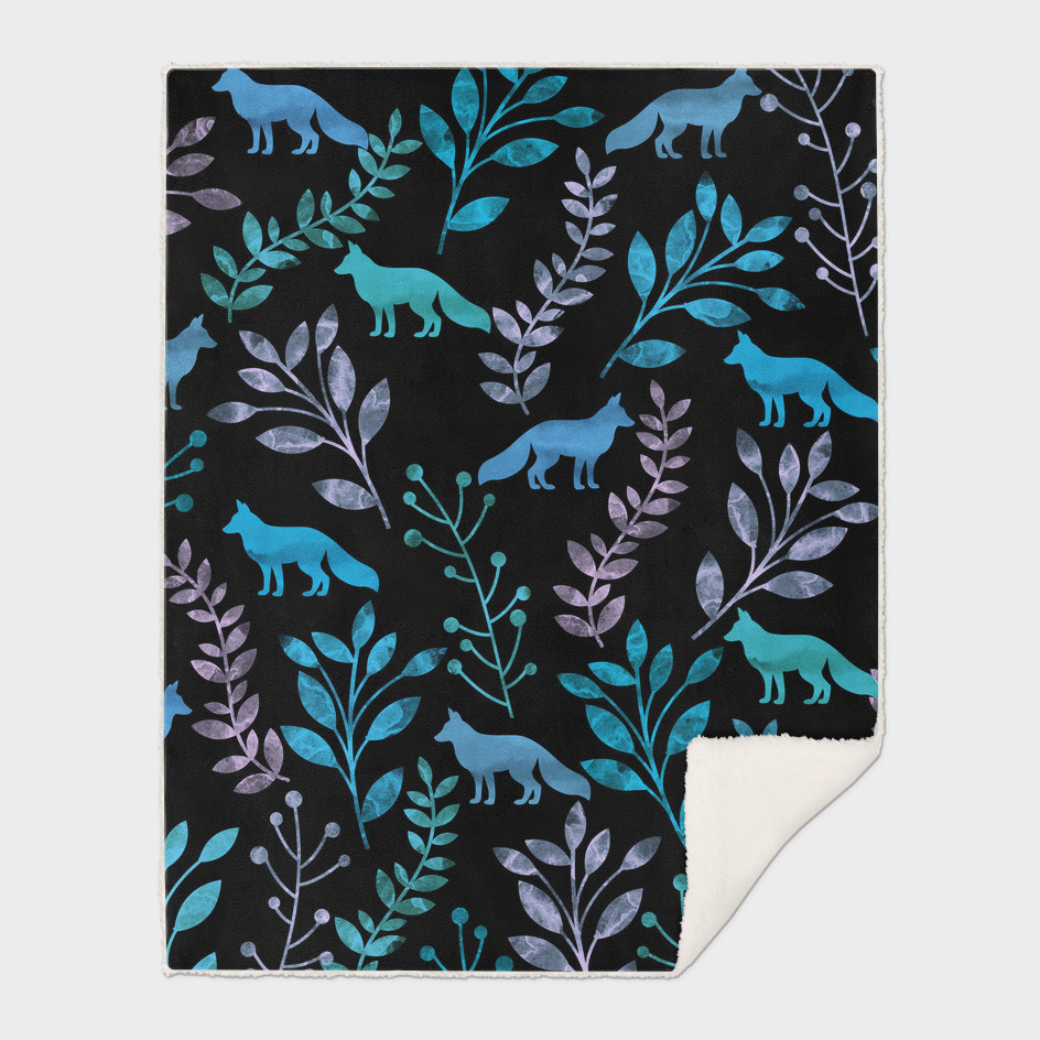 Watercolor Floral & Fox II