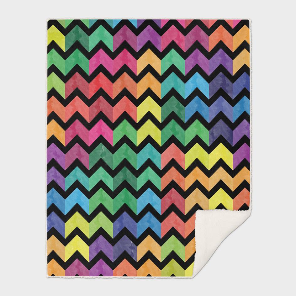 Watercolor Chevron Pattern